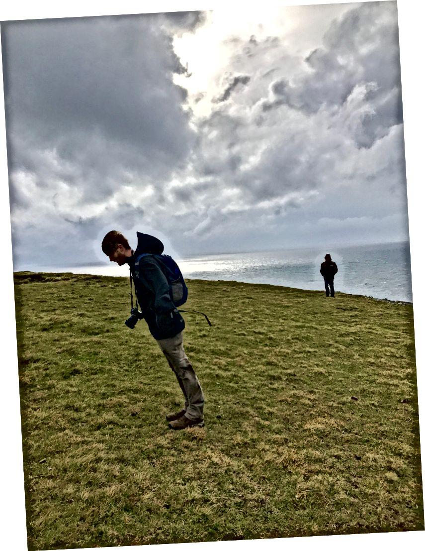 Şu rüzgar! Benim ve Derek'in fotoğrafları.