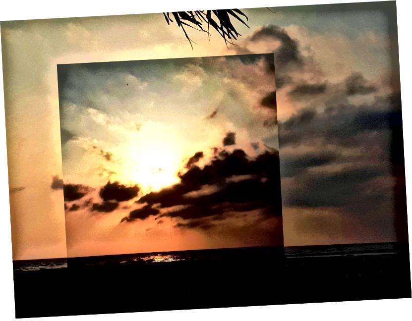 Zalazak sunca, na obali