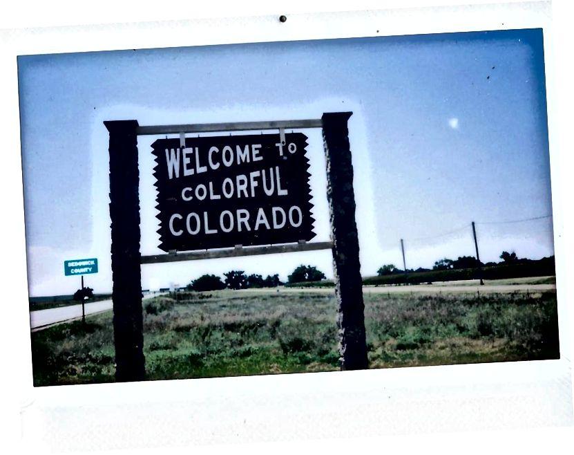 Небраска, кордон Колорадо