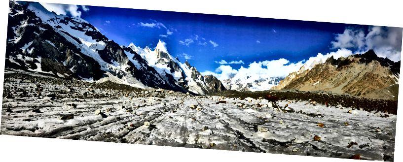 Панорамний вид на льодовик Gondogoro