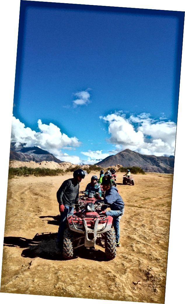 ATV yolculuğu Cusco, Peru
