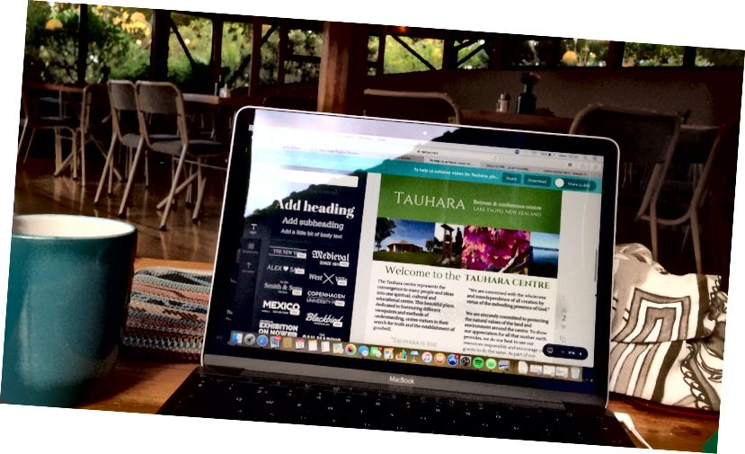 Tạo thư mục thông tin khách mới của Trung tâm Tauhara ở Taupo, New Zealand.