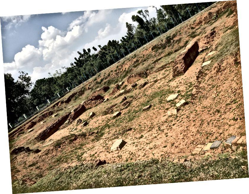 Chozhan sarayının kalıntıları