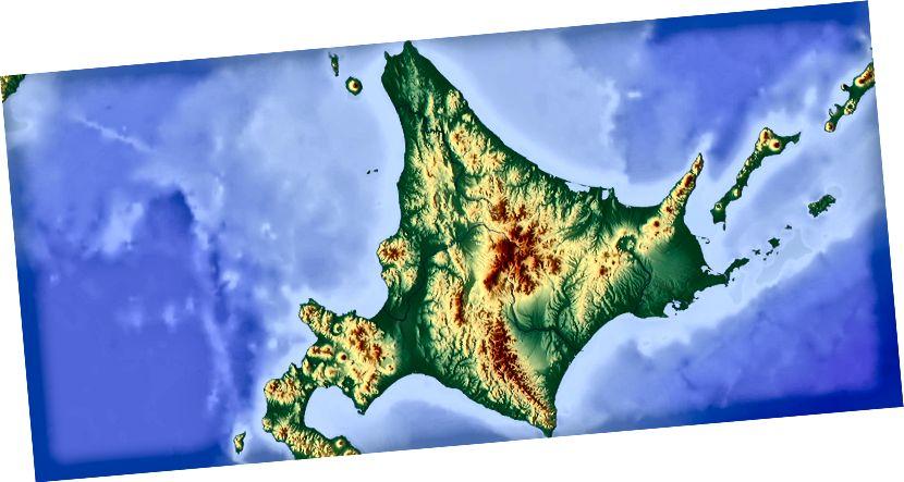 Hokkaido'nun topografyası