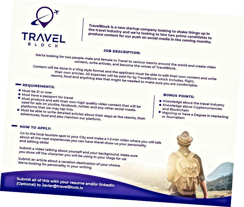 TravelBlock просить творців контенту прийти на роботу для нашої постійно зростаючої команди!