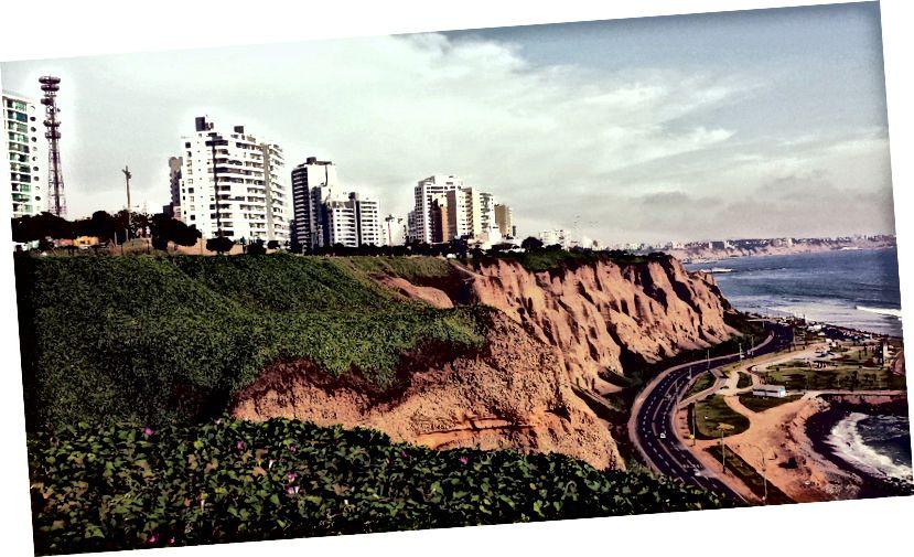 Lima, Peru kıyı şeridi