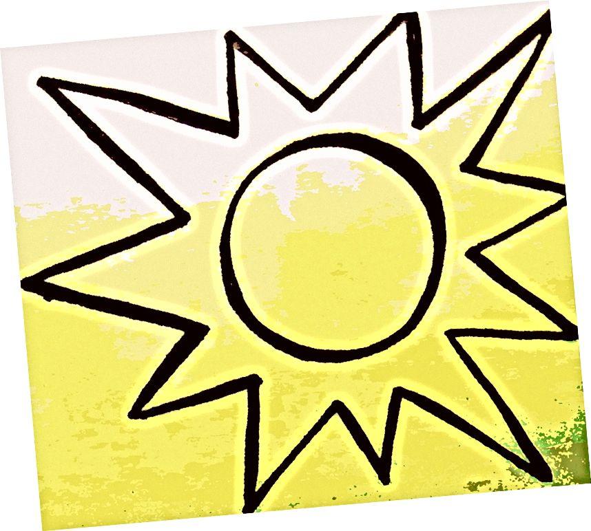 Шарпі малювання / редагування фотографій зображення сонця, створене в Південному Судані, 2013 - зображення від Lindsay Linegar