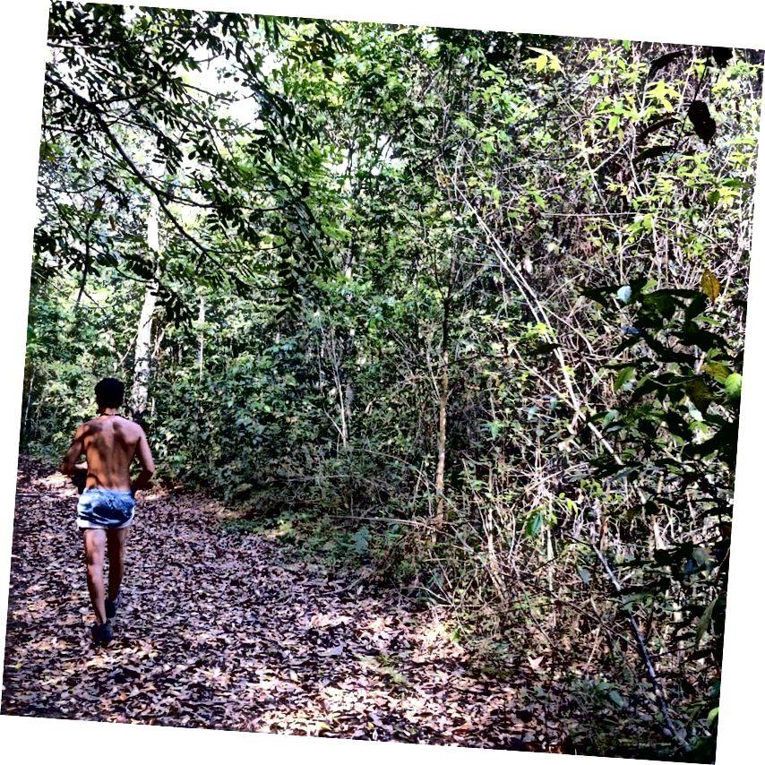 A fost incredibil de cald ... cel mai apropiat o să ajung vreodată să fiu Băiatul Junglei