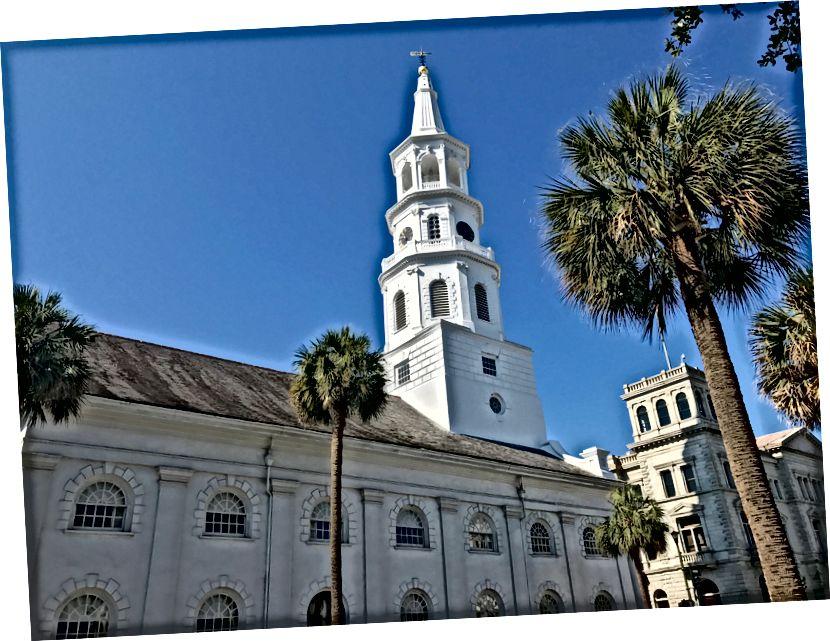 En sevdiğim Amerikan şehirlerinden biri olan Charleston'da sokak manzaraları.