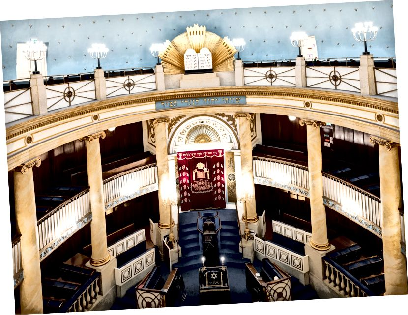 Всередині штадтемпеля - головної синагоги у Відні, побудованої у 1820-х роках