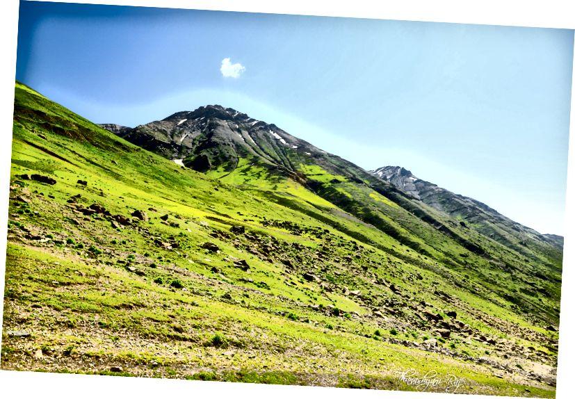 Висотні альпійські луки відомі Кашміром. Це матеріал, який ми підписали на цей похід.