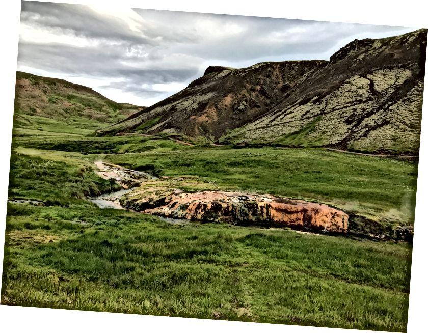 Річка гарячої джерела Хверагерді - липень 2017 року - Фото від Ali