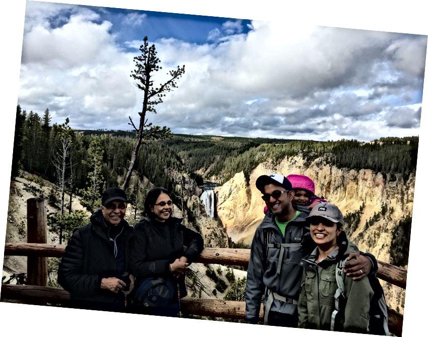 Minket a kanyon körüli kirándulásunkon