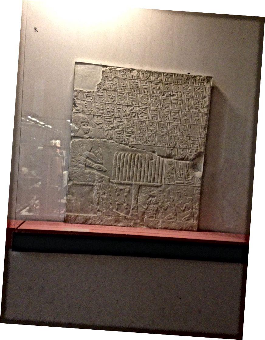 Mısır döneminde bir restoranda menü