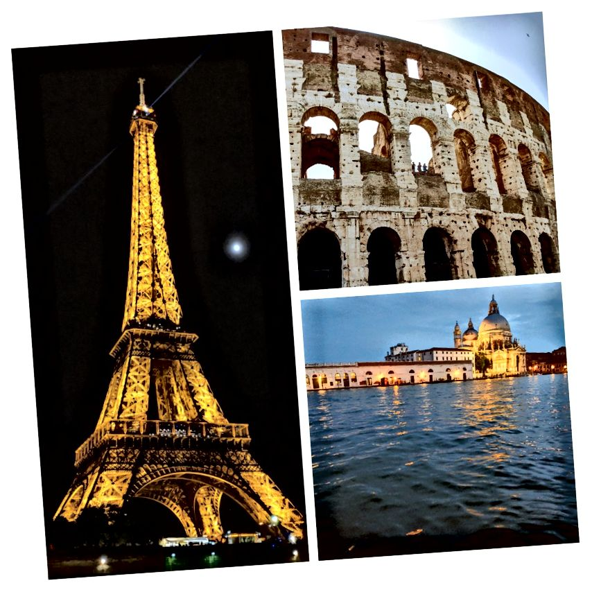 Roma, Venedik ve Paris