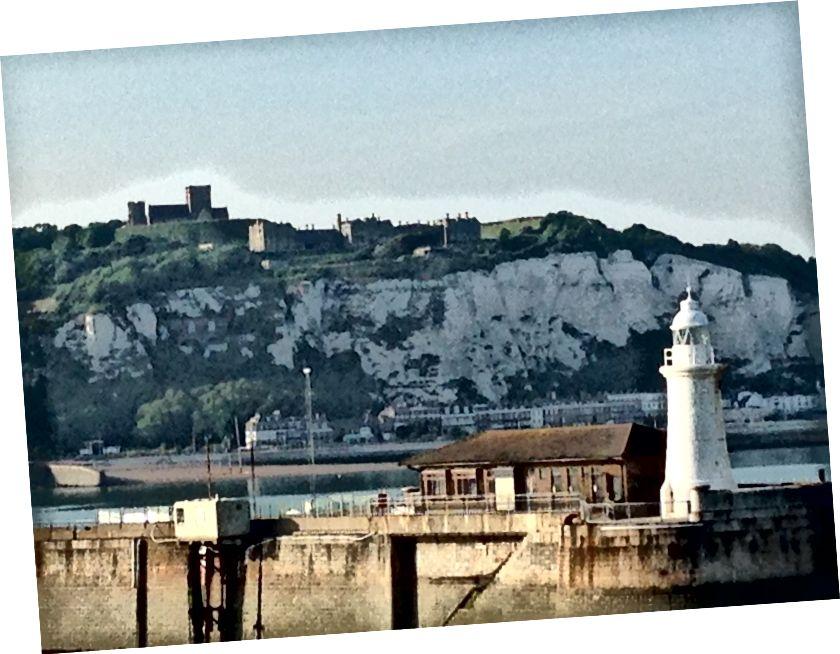 Dover Cliffs, gemiden (bu, geçen yıl burada olduğum zaman tarafımdan alındı)