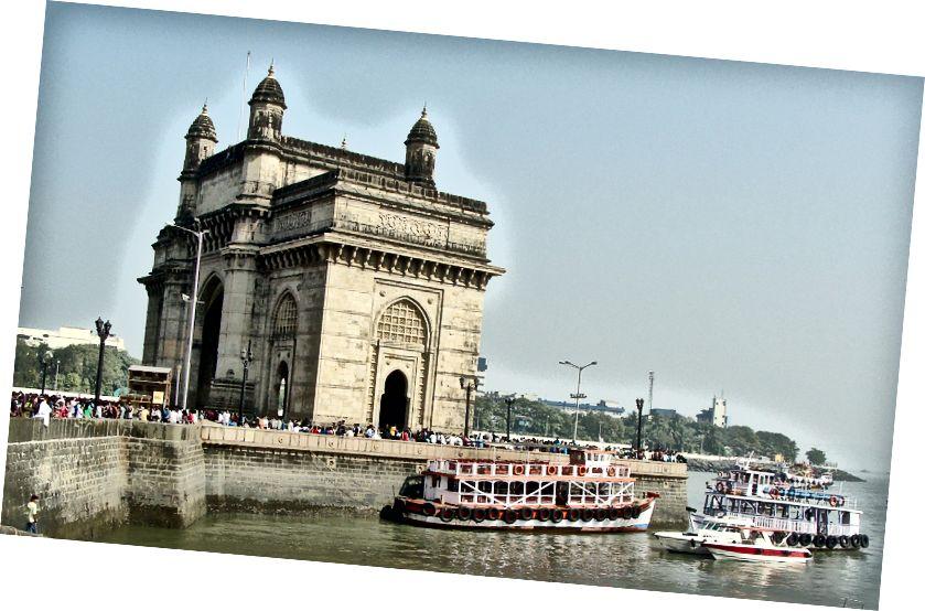 Spomenik za vrata Indije v Bombaju v Indiji