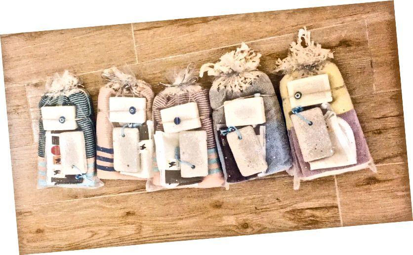 Pera Sabunlardan güzel havlu ve bodur hediye setleri