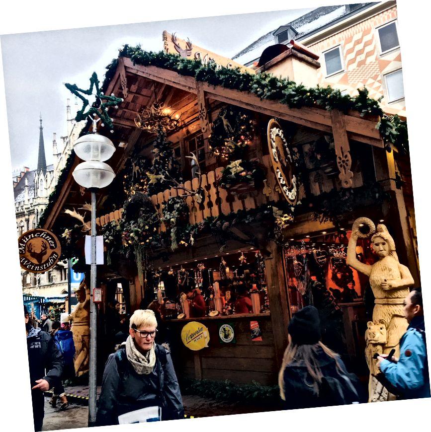 Marienplatz Noel pazarı