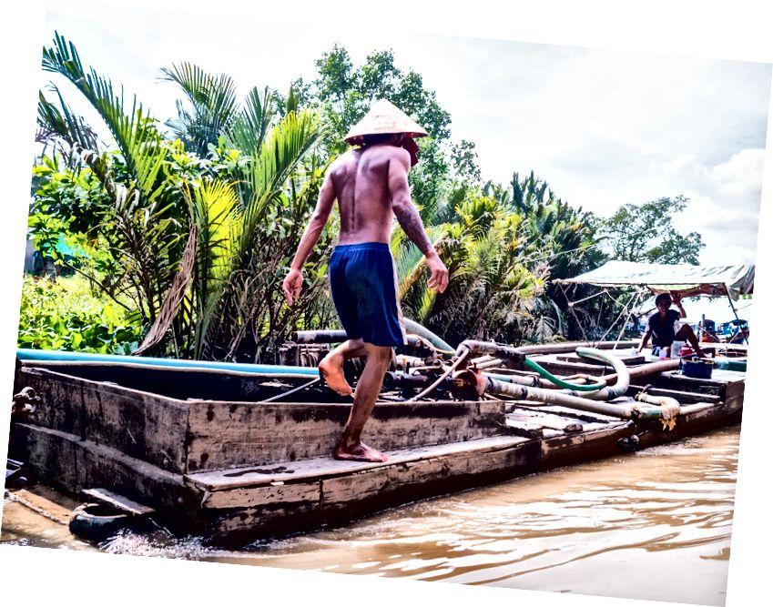 Mekong Deltası'ndan sahneler