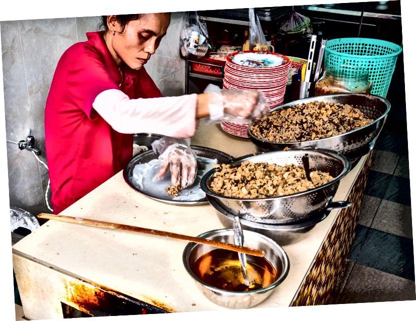 Sipariş üzerine pişirilmiş taze satın alınan malzemeler