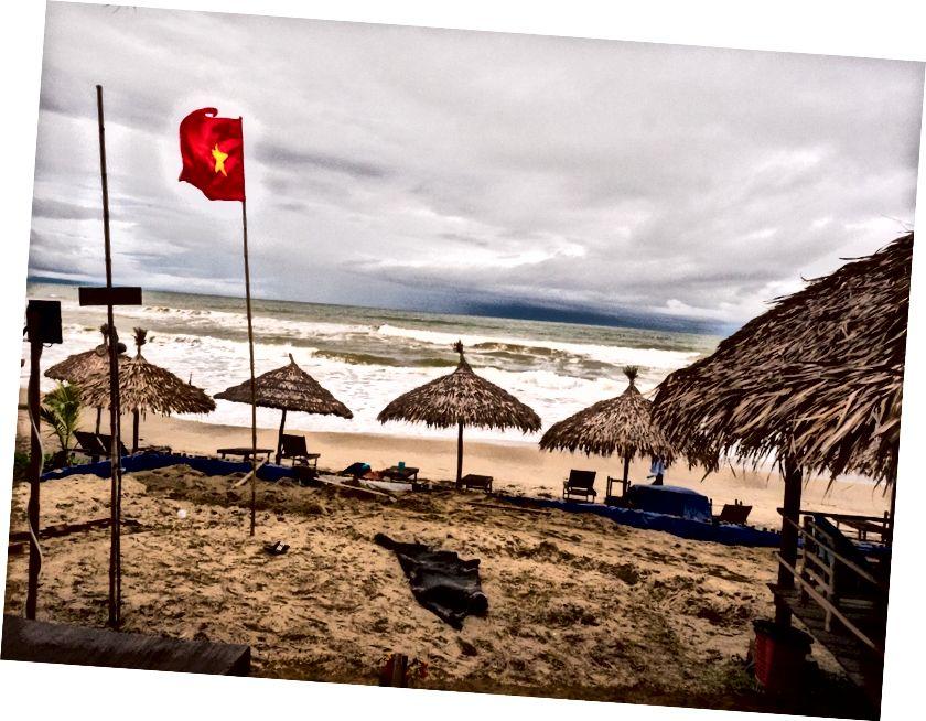 Plaja giderken