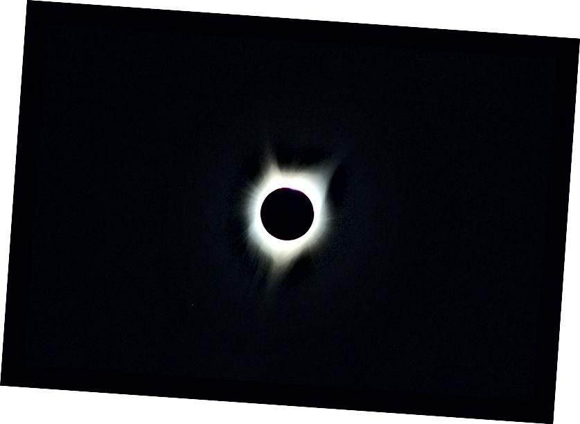 Велике сонячне затемнення 2017 року, як це спостерігається в Орегоні