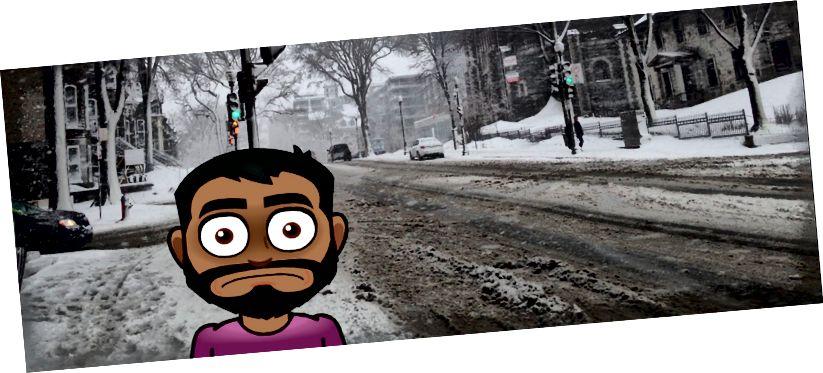 Thành phố Quebec chào đón tôi bằng một cơn bão tuyết 'nhẹ'