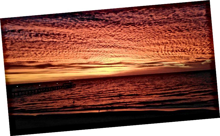 Güney Avustralya'nın muhteşem gün batımı (fotoğraf kredisi: Sarah Healy)