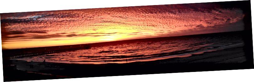 çarpıcı bir Güney Avustralya günbatımı panoramik fotoğrafı (fotoğraf kredi: Sarah Healy)