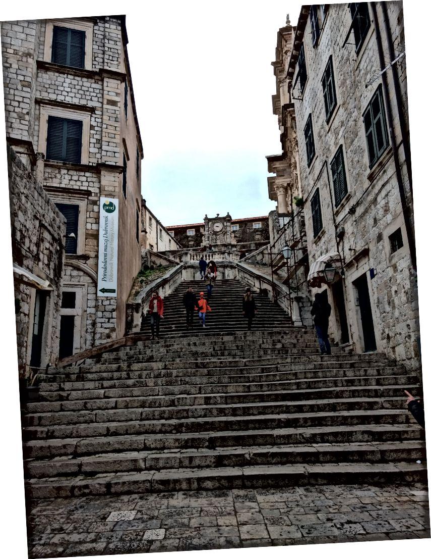Dubrovnik'in merkezi.