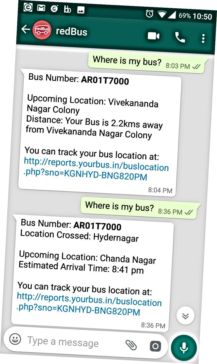 WhatsApp Bot Veri Yolu Konum Durumuna Yanıt