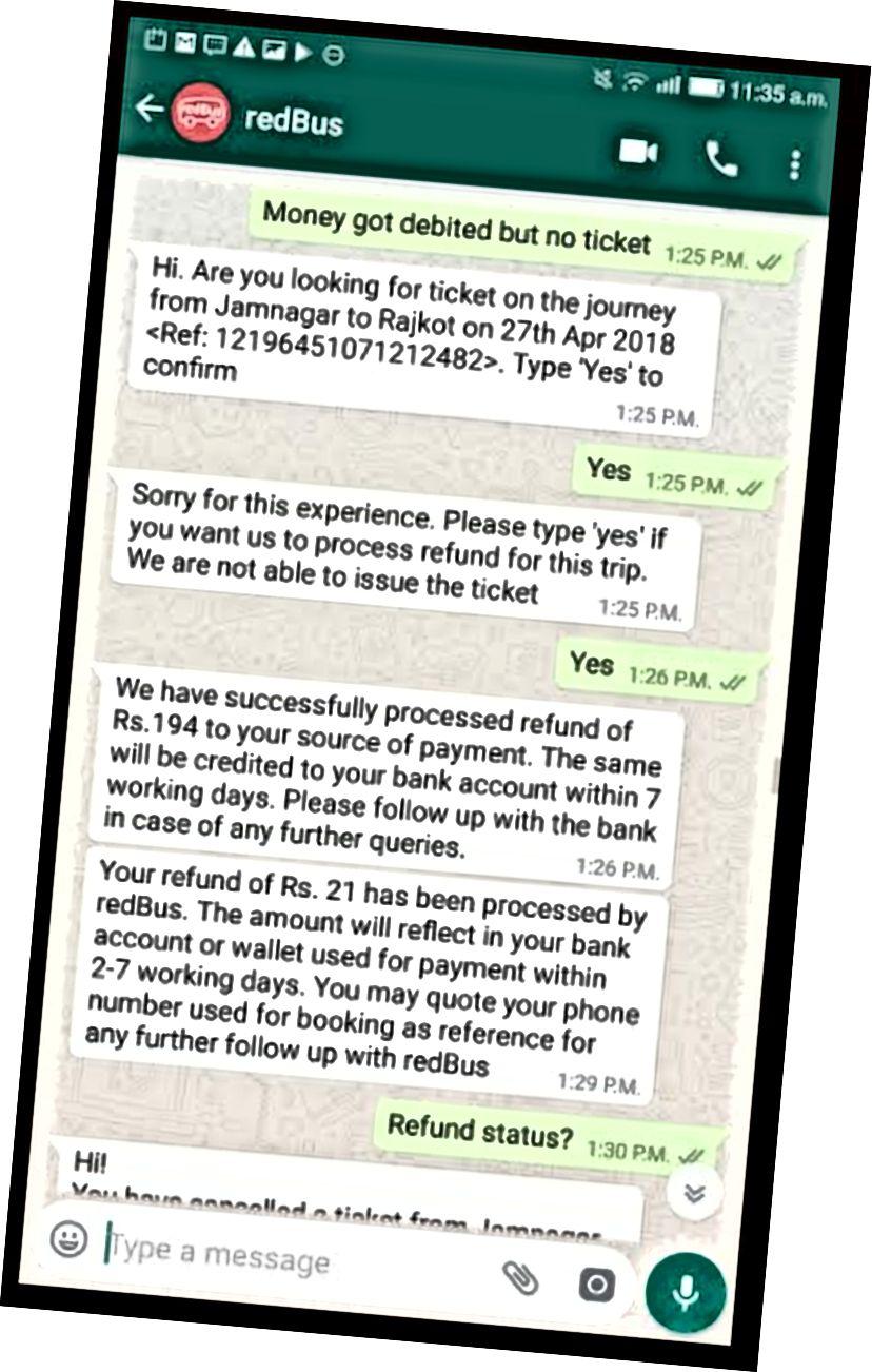 WhatsApp Bot Bilet Sorunda Kullanıcının Sorgusuna Yanıt