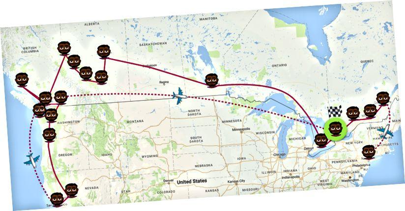 Tôi đã đến thăm 20 địa điểm và chọn Toronto