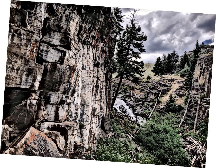 Ağır yükler ve yüksek sular; Gizli Şelaleler, Yellowstone