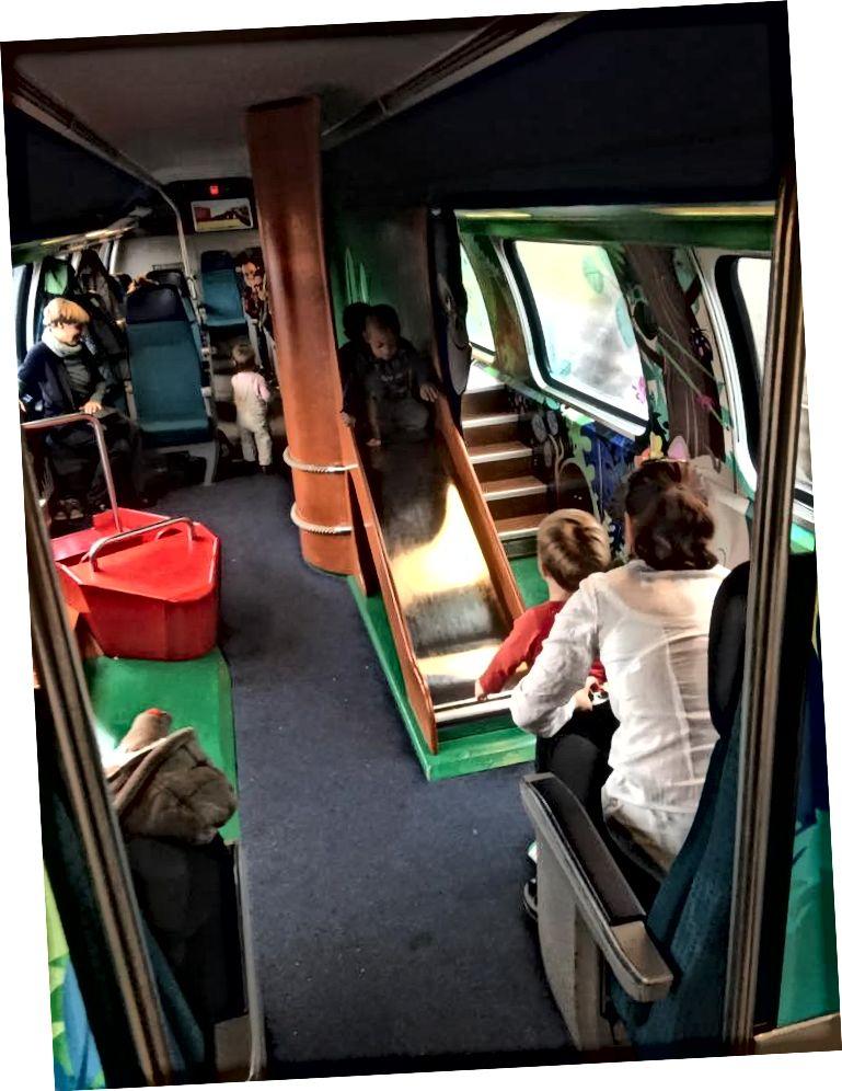 Ігровий майданчик у поїзді до Швейцарії