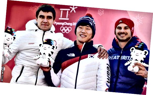 Nikita Tregubov (Rusya, Gümüş), Sungbin Yun (Kore, Altın) ve Dom Parsons (İngiltere, Bronz) - Resim: Getty Images