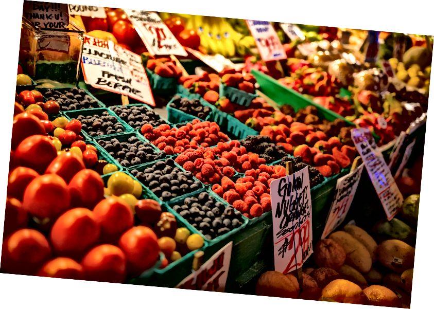 Taze meyve ve sebze Market