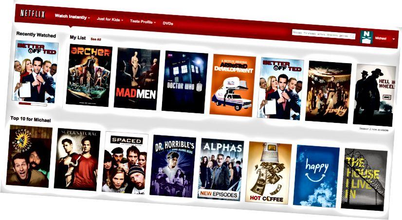 Близько 75 - 80% всього, що спостерігається на Netflix, походить з його індивідуально підібраних рекомендацій.