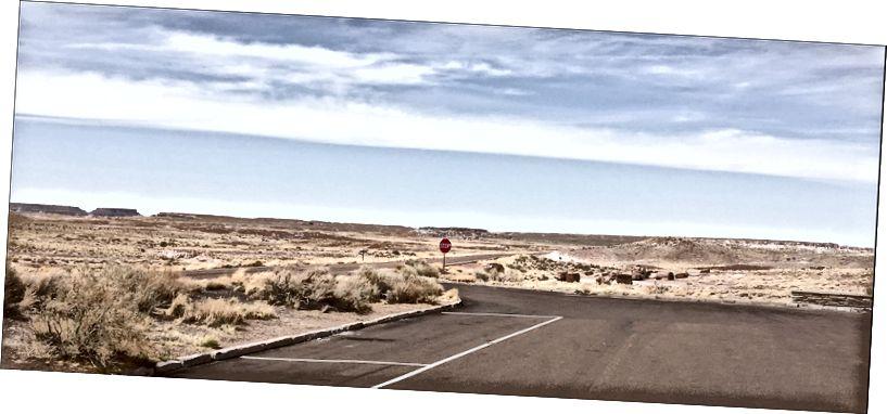 Автостоянка, Знак зупинки, Нескінченний горизонт Скам'янілий ліс, AZ 4–11–2018