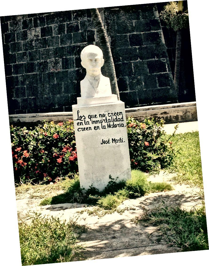 """""""Ölümsüzlüğe inanmayanlar Tarihe inanıyorlar."""" -Jose Marti. Fotoğraf kredisi: Neely"""
