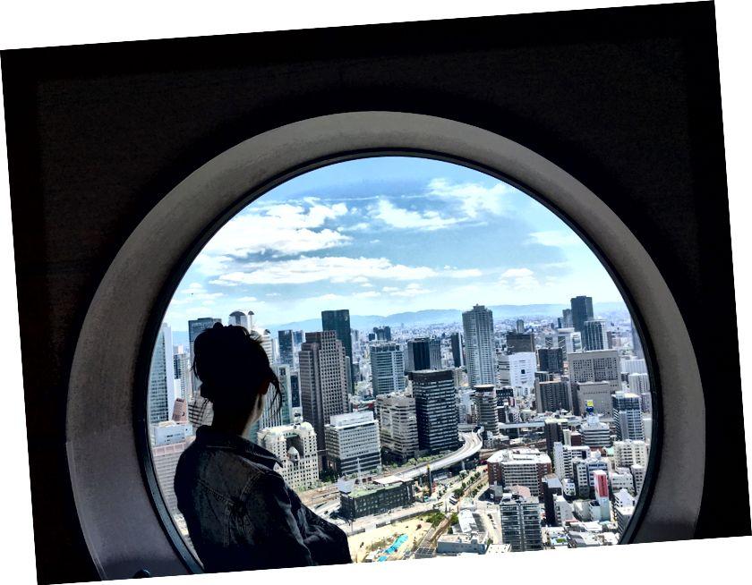 Vista desde el edificio Umeda Sky en Osaka
