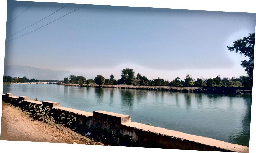 دریائے شاردا۔ ہند۔ نیپال سرحد (بنباسا)