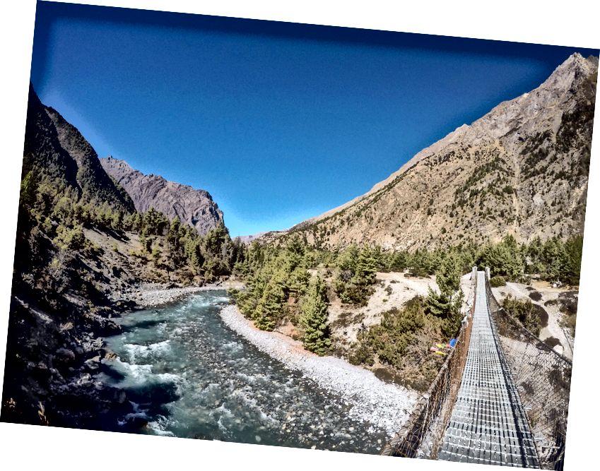 Jembatan lain di Sungai Marsyangdi