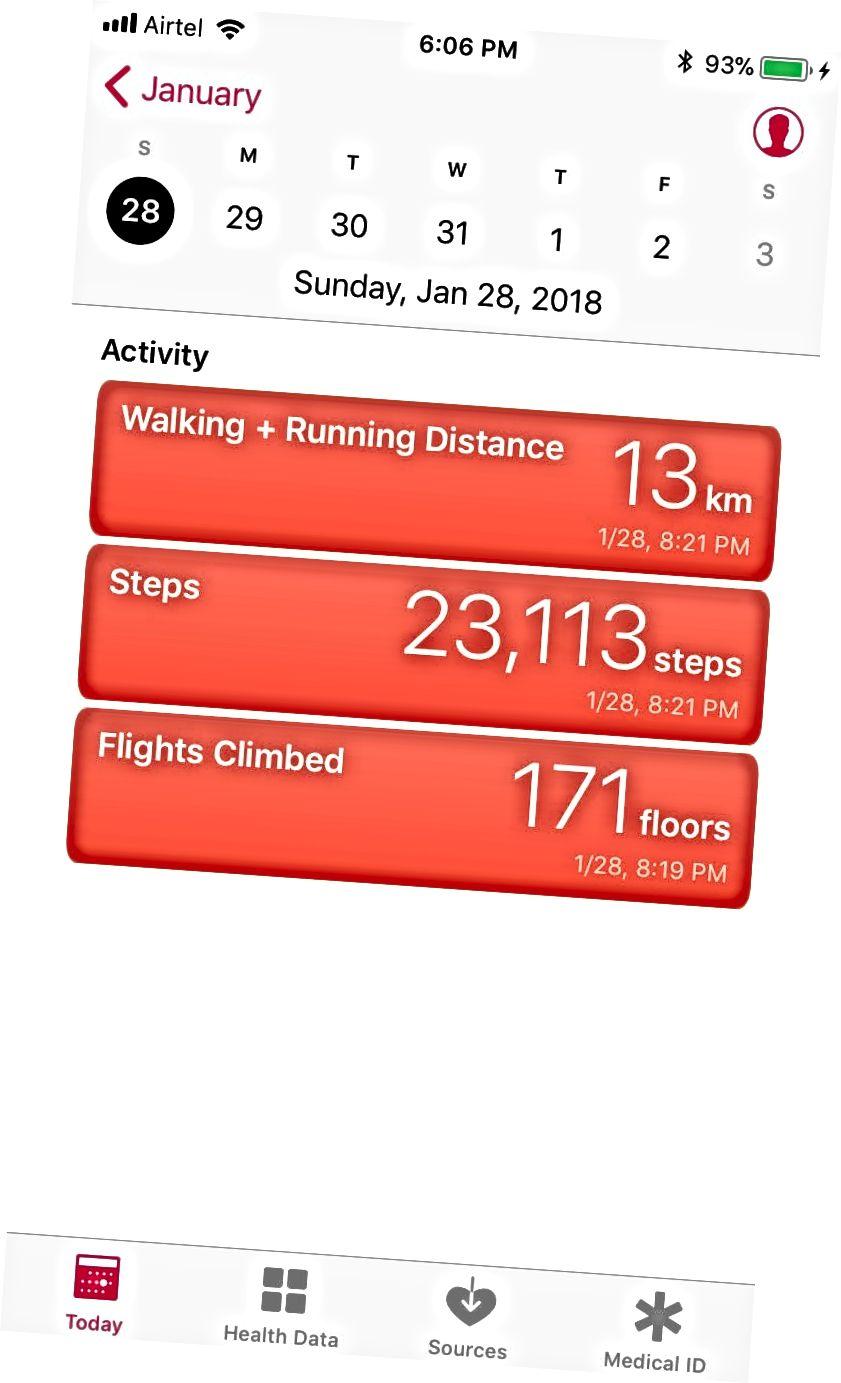 Gesundheits-App iOS