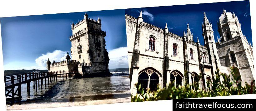Tháp Belém và Monasterio de Jeronimos