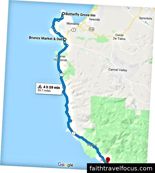 Tuyến đường: 17 dặm Lái xe → Quốc lộ 1