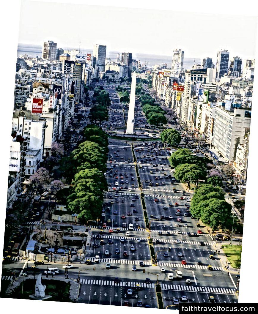 Avenida 9 de Julio, Buenos Aires - Lịch sự của Blog KLM