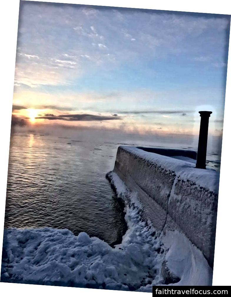 Hãy đến thưởng thức khói biển hồ Superior