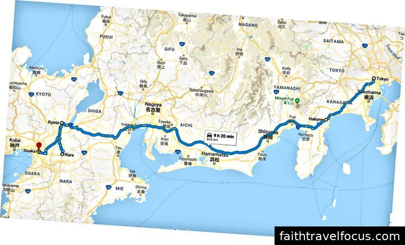 Chuyến đi của chúng tôi qua Nhật Bản
